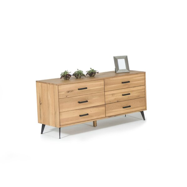 Plainville Modern 6 Drawer Double Dresser by Langley Street