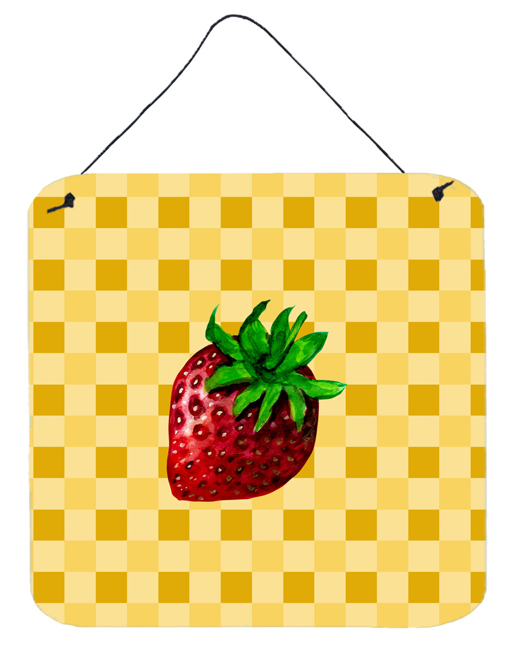 East Urban Home Strawberry on Basketweave Wall Décor | Wayfair