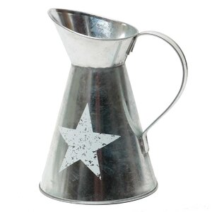 Galvanized Star Pitcher
