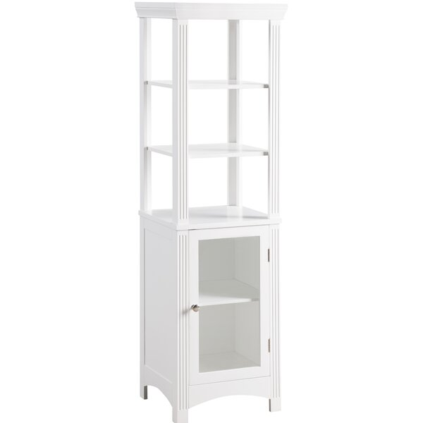 Chestnut 15.5 W x 51 H Linen Tower by Elegant Home Fashions