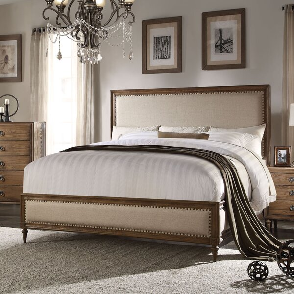 Knollwood Upholstered Panel Bed by Greyleigh