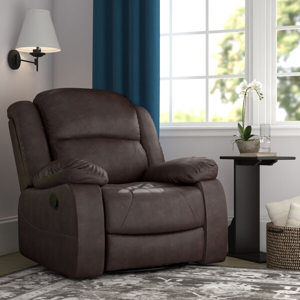 Lambdin Tufted Manual Swivel Recliner by Red Barre