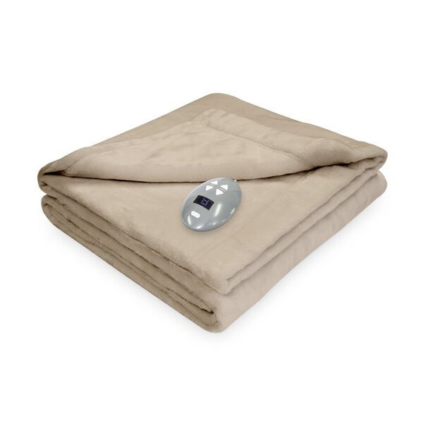 Low Voltage Technology Heated Electric Velvet Plush Warming Blanket by Soft Heat