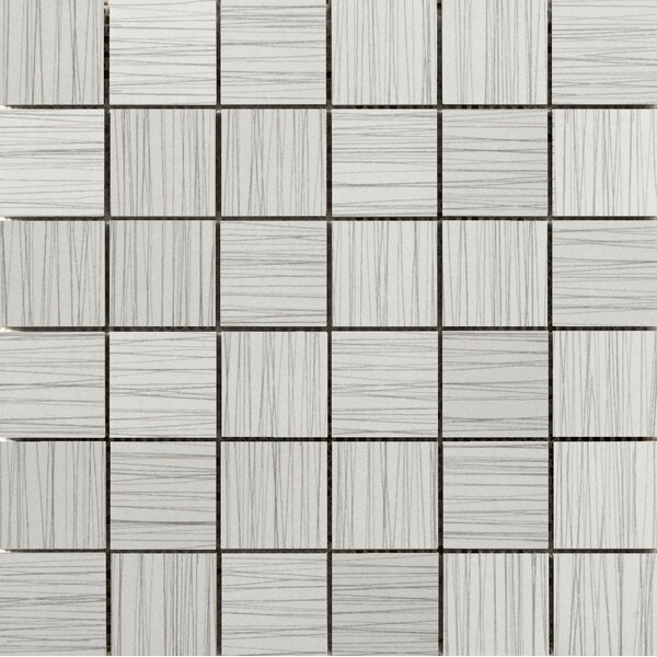 Thread 2 x 2 Porcelain Mosaic Tile in Silver by Emser Tile