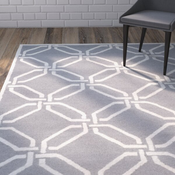 Martins Hand-Tufted Dark Gray/Ivory Area Rug by Wrought Studio