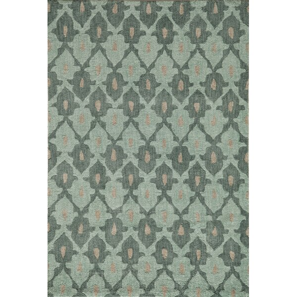 Allen Hand-Tufted Teal Area Rug by Bungalow Rose