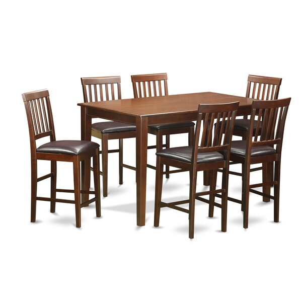7 Piece Counter Height Dining Set by Wooden Importers