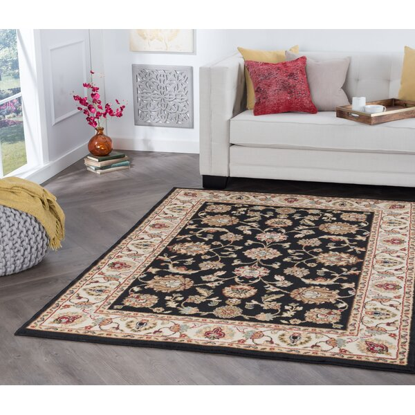 Hoang Black Area Rug by Charlton Home