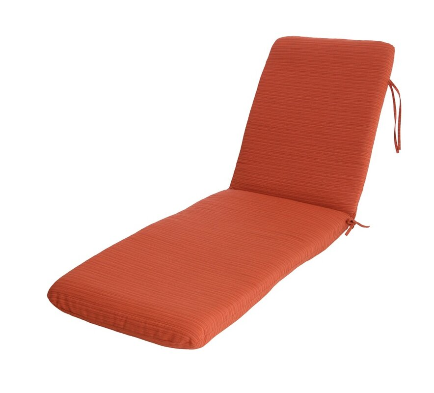 Red barrel studio mindi outdoor sunbrella chaise lounge for 24 wide chaise lounge cushions