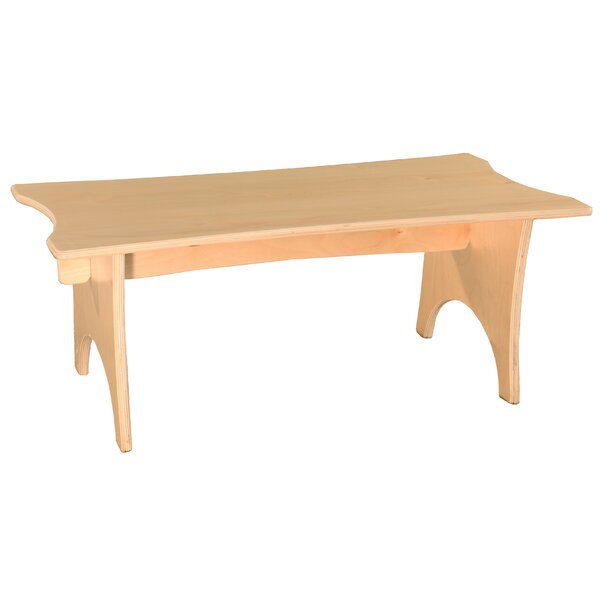 Scalloped Straight Wood Bench by Wood Designs