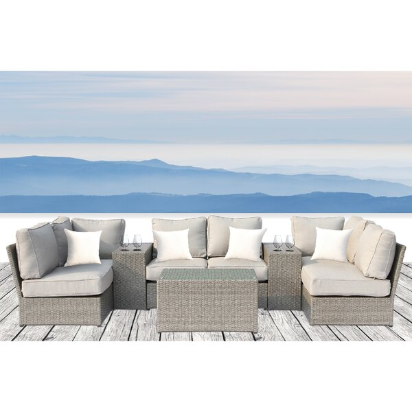 Winsford 9 Piece Sofa Set with Cushions by Rosecliff Heights