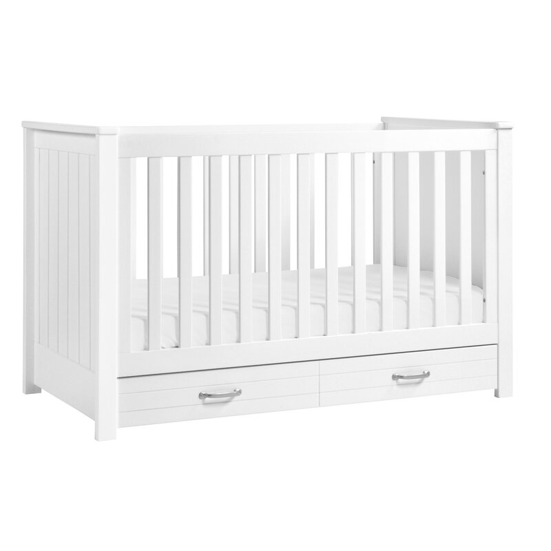 Asher 3 In 1 Convertible Crib With Storage