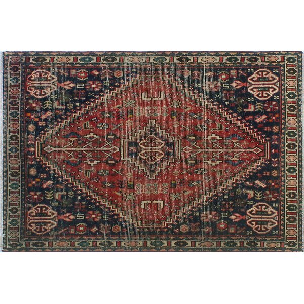 One-Of-A-Kind Brook Hand-Knotted Wool Red/Black Area Rug by Isabelline