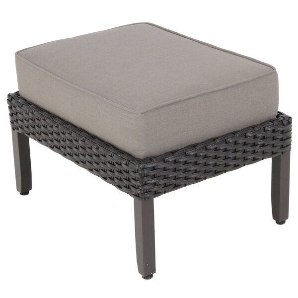 Kanzler Outdoor Ottoman with Cushion (Set of 2) by Red Barrel Studio