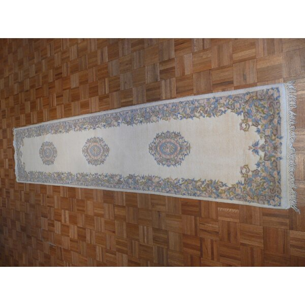 One-of-a-Kind Josephson Kirman Hand-Knotted Ivory Area Rug by Canora Grey