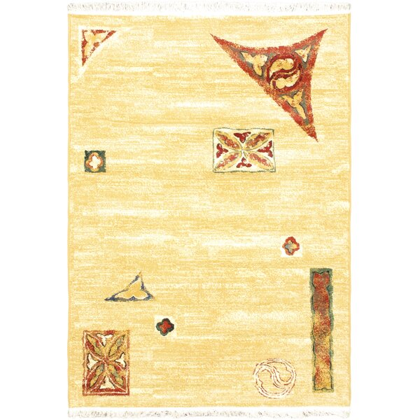 Seamus Yellow Area Rug by World Menagerie