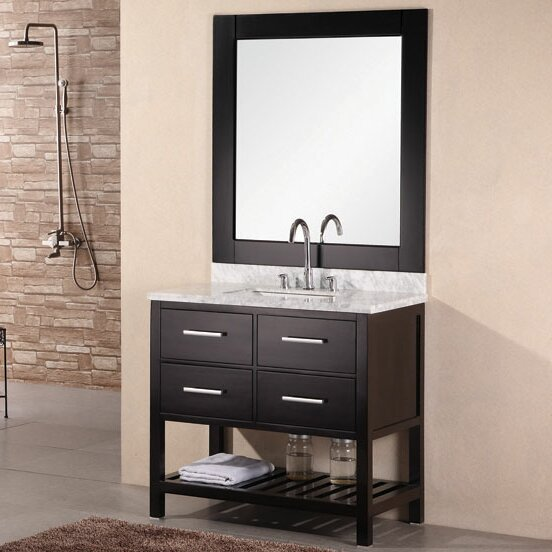 Middletown 36 Single Bathroom Vanity Set with Mirror by Andover Mills