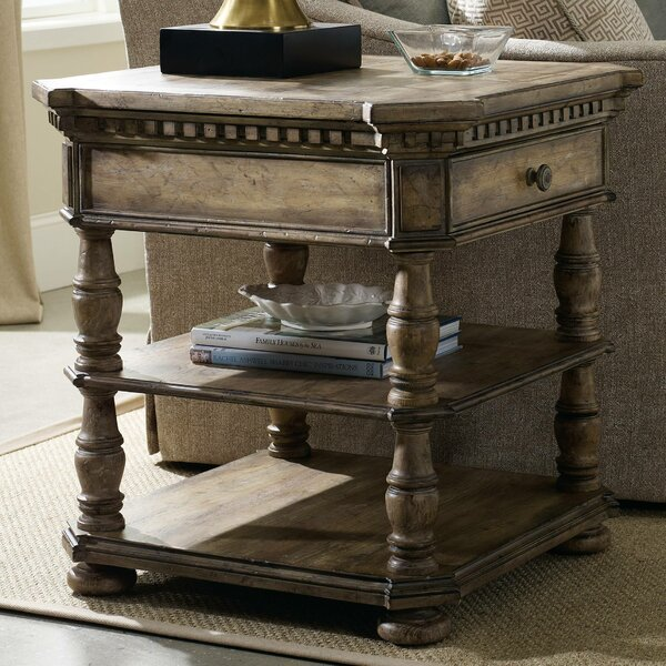 Sorella End Table with Storage by Hooker Furniture