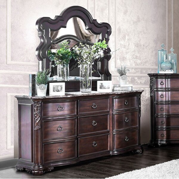 Trevin 9 Drawer Double Dresser With Mirror By House Of Hampton Top Reviews