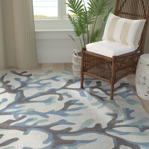 Cherrywood Hand-Tufted Blue/Brown Area Rug by Highland Dunes