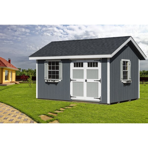 Heritage 14 ft. W x 10 ft. D Wooden Horizontal Storage Shed by EZ-Fit Sheds