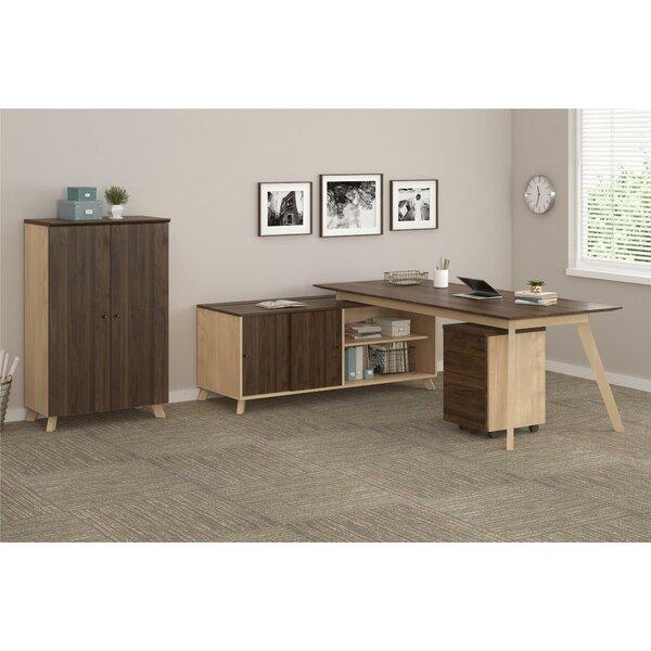 Barbosa Executive 3 Piece L-Shape Desk Office Suite by Ivy Bronx