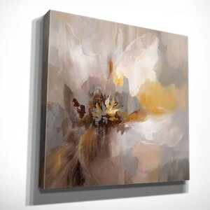 'Petals Whisper' by Nan Painting Print on Wrapped Canvas by Wexford Home