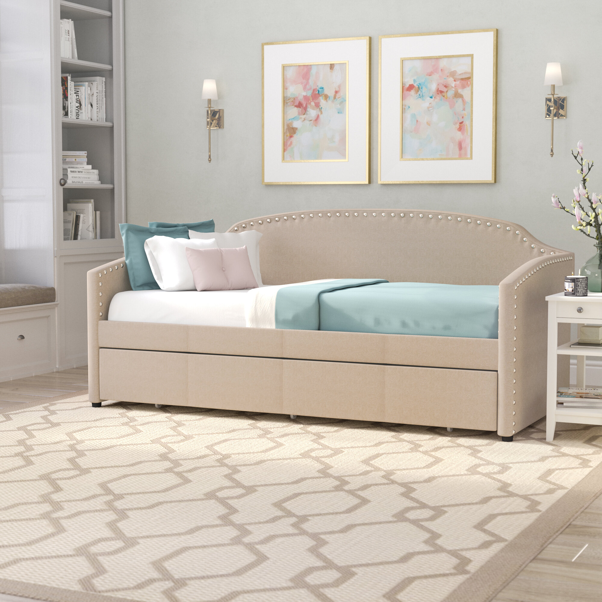 Charlton Home Cadwell Twin Daybed with Trundle & Reviews   Wayfair