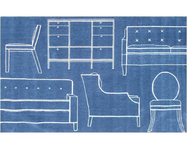 Flacq Hand-Tufted Blue Area Rug by Threadbind
