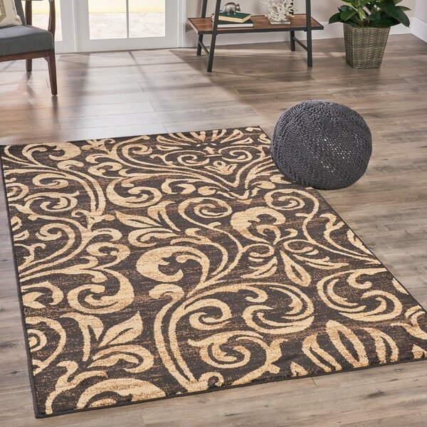 Acosta Abstract Beige/Brown Area Rug by Alcott Hill
