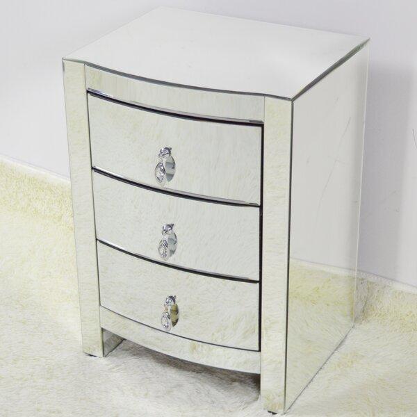Ralphio 3 Drawer Nightstand by House of Hampton