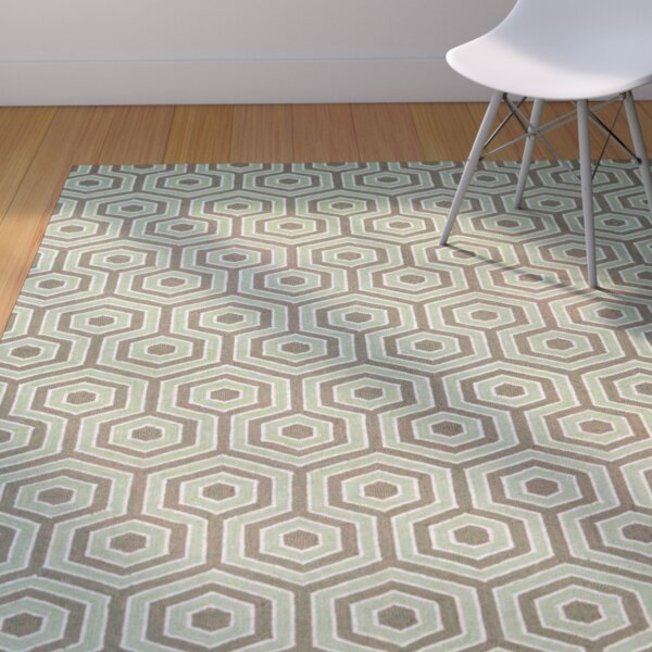 Atticus Bog Hand-Woven Brown/Green Area Rug by Corrigan Studio