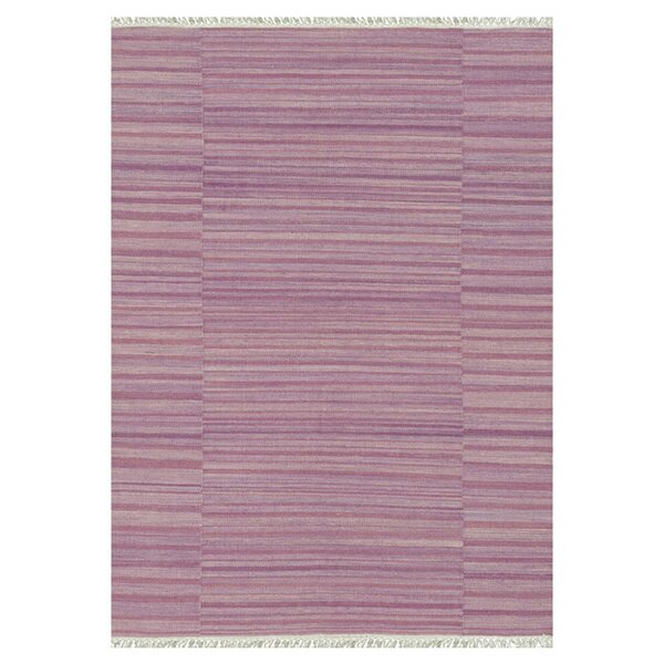 Barret Hand-Woven Pink Area Rug by Highland Dunes