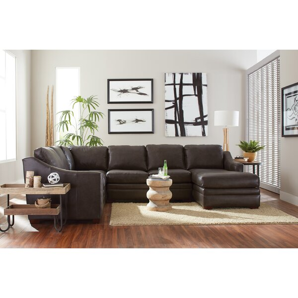 Dalhart Leather Right Hand Facing Reclining Sectional By Westland And Birch