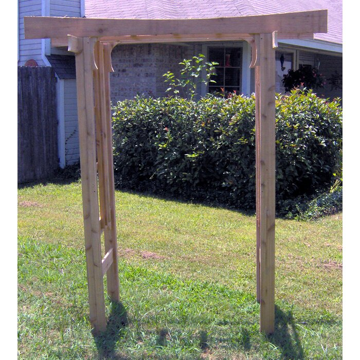 Cedar Japanese Style Garden Arbour With Gates Stained