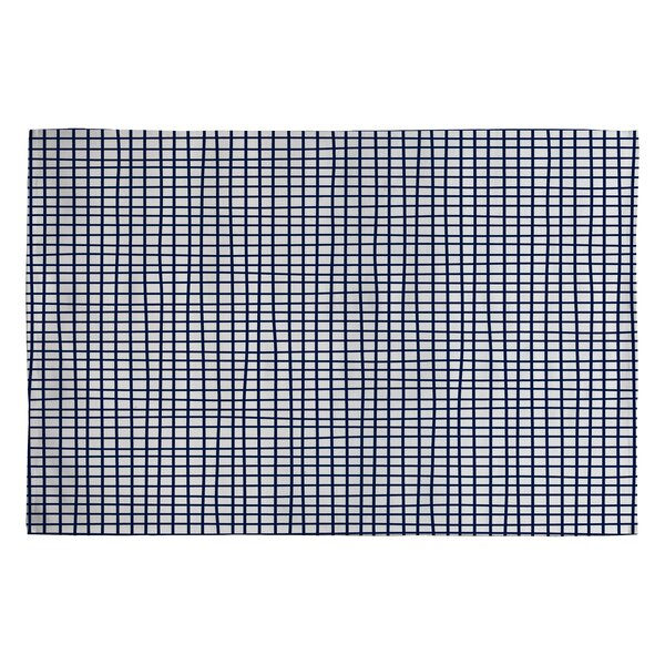 Holli Zollinger Blue Cross Lines Area Rug by Deny Designs