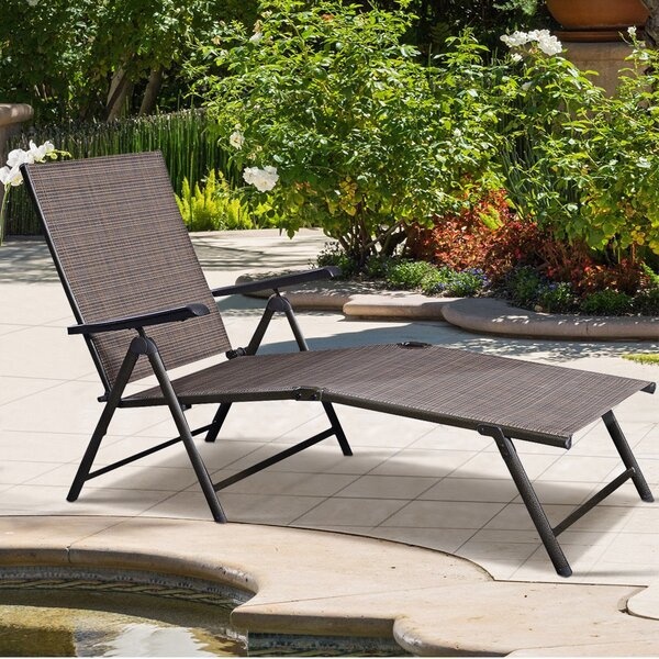 Annnora Outdoor Reclining Chaise Lounge