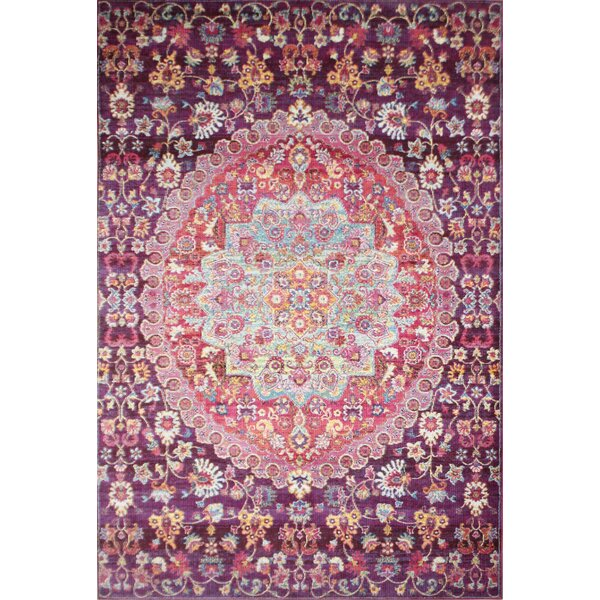 Fidela Plum Area Rug by Bungalow Rose