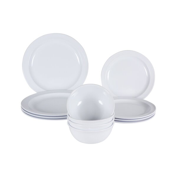 Middleton Melamine 12 Piece Dinnerware Set, Service for 4 by Winston Porter