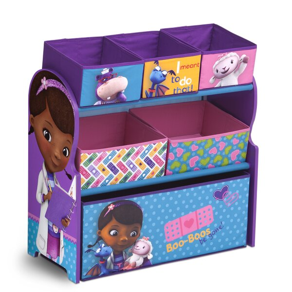 Doc Mcstuffins Multi Bin Storage Organizer By Delta Children.