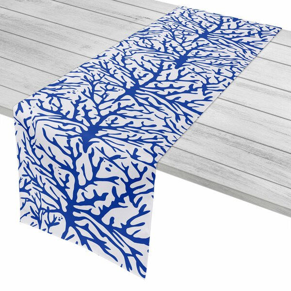 Waterbury Cobalt Table Runner by Rosecliff Heights