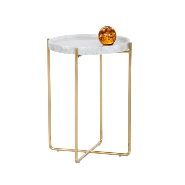 Fouke Tray Top Cross Legs End Table By Greyleigh