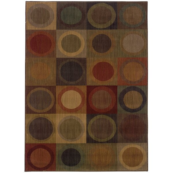 Ryles Green/Brown Area Rug by Red Barrel Studio
