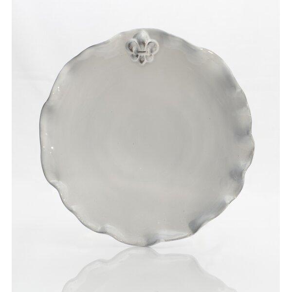 Fleur De Lis 10 Dinner Plate (Set of 4) by Abigails