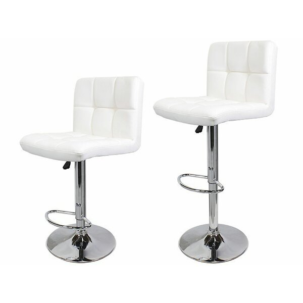 Adjustable Height Swivel Bar Stool (Set of 2) by Calhome