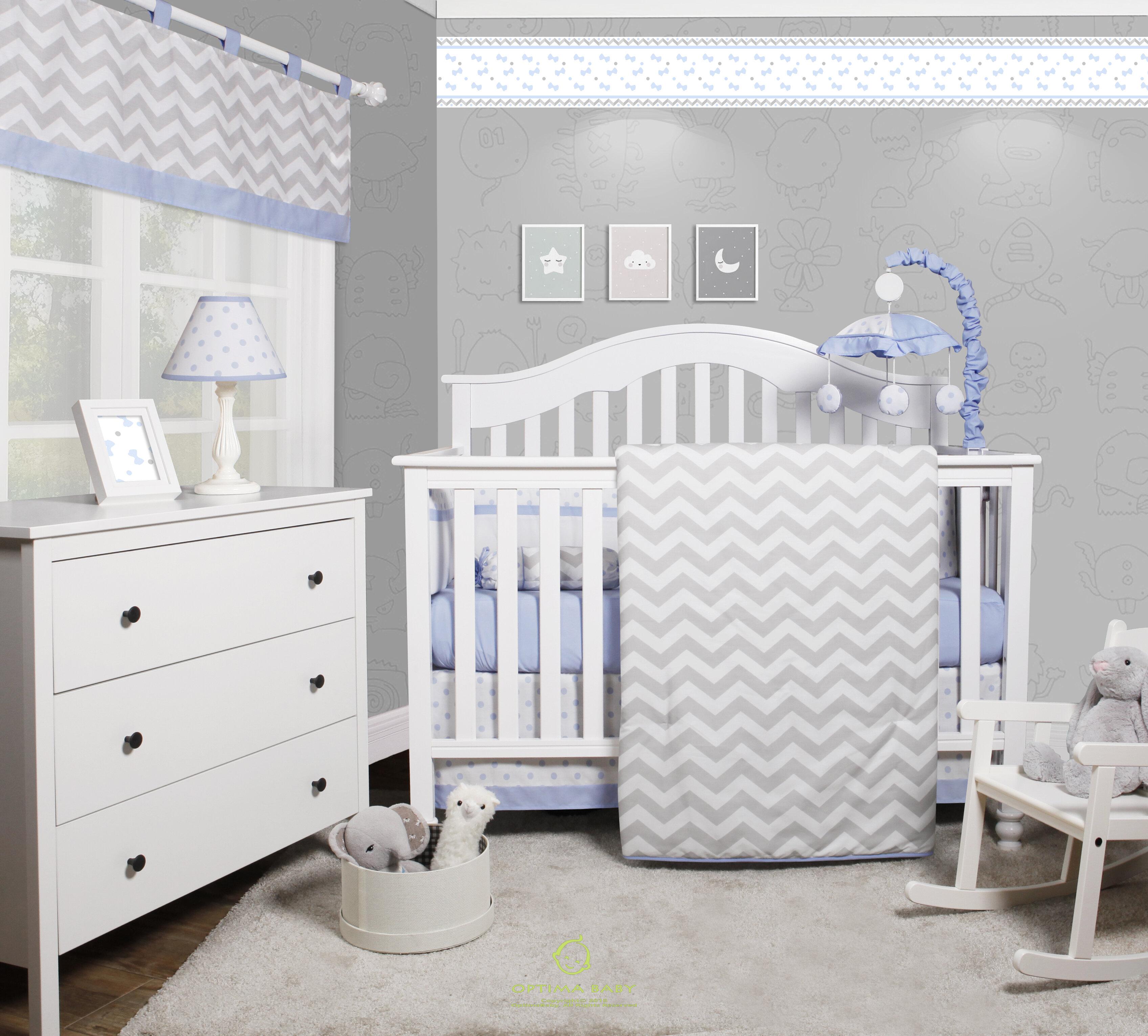 Harriet Bee Beavers Chevron Nursery 6 Piece Crib Bedding Set Reviews Wayfair