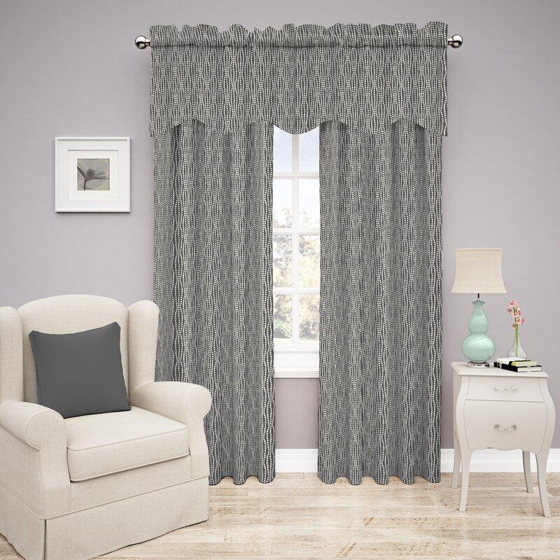 Strands Striped Room Darkening Rod Pocket Single Curtain Panel