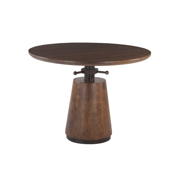Haines Acacia Wood Adjustable Dining Table by Williston Forge Williston Forge