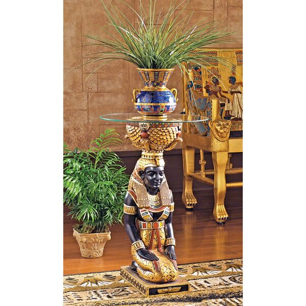The Egyptian Goddess Eset Pedestal Plant Stand by Design Toscano