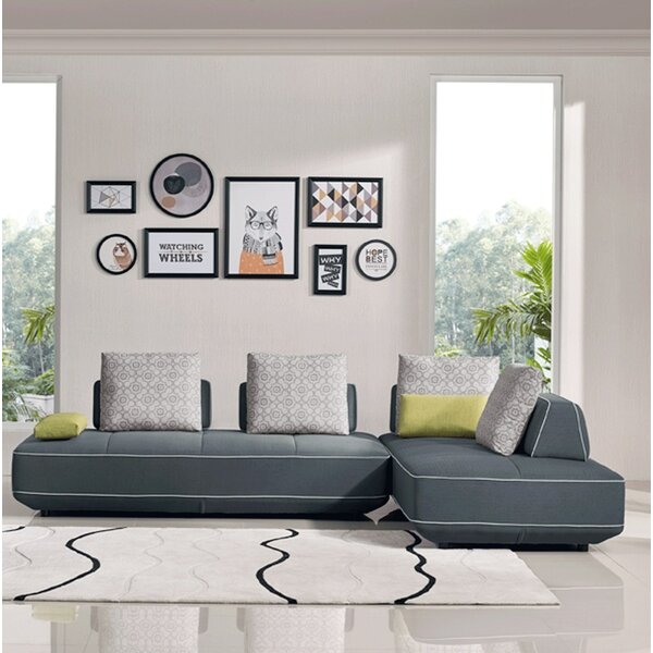 Jersey Symmetrical Symmetrical Sleeper Sectional By Orren Ellis